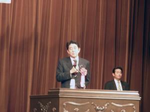 安倍元総理の講演