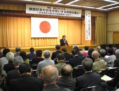 講演される谷田川先生